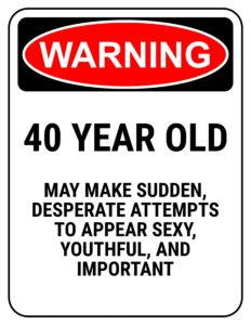 40 year birthday sign